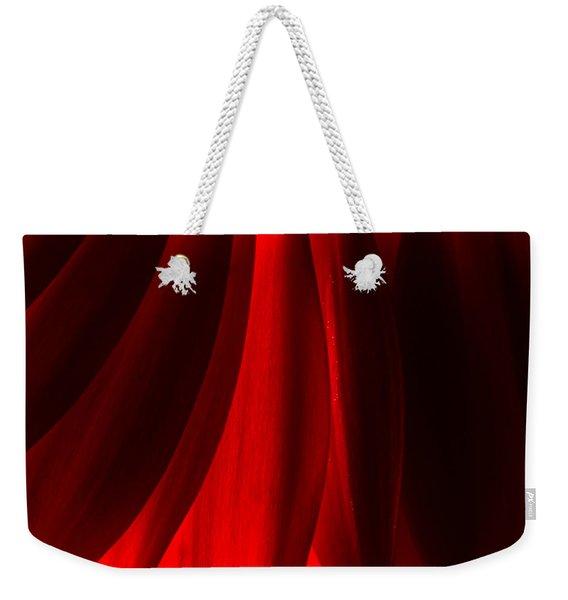 Red Abstract Of Chrysanthemum Wildflower Weekender Tote Bag
