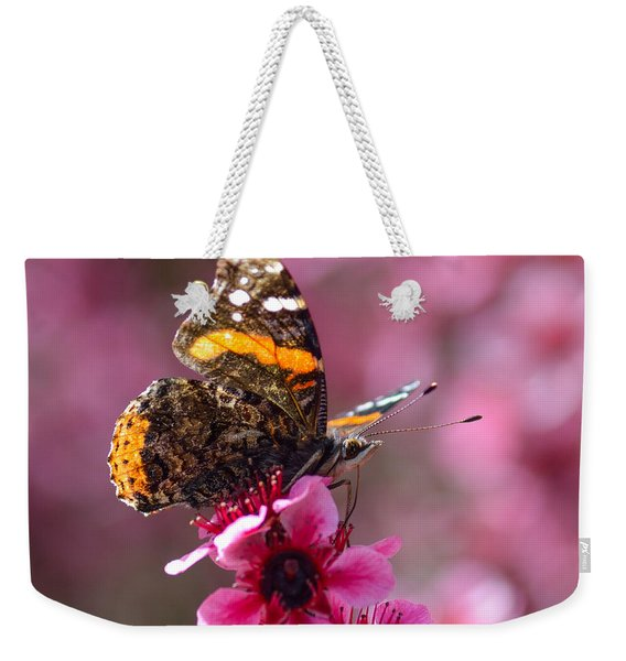 Red Admiral Butterfly Weekender Tote Bag