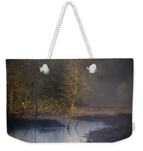 Red Alder Along Colewort Creek Weekender Tote Bag