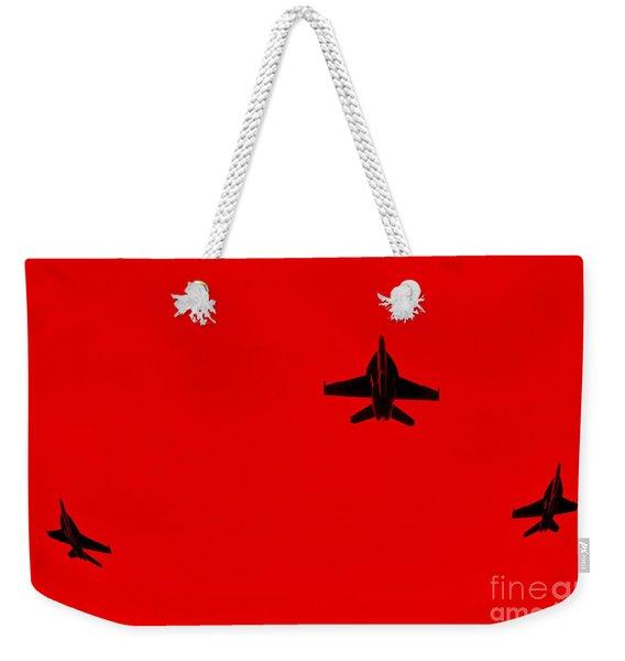 Red Alert Weekender Tote Bag