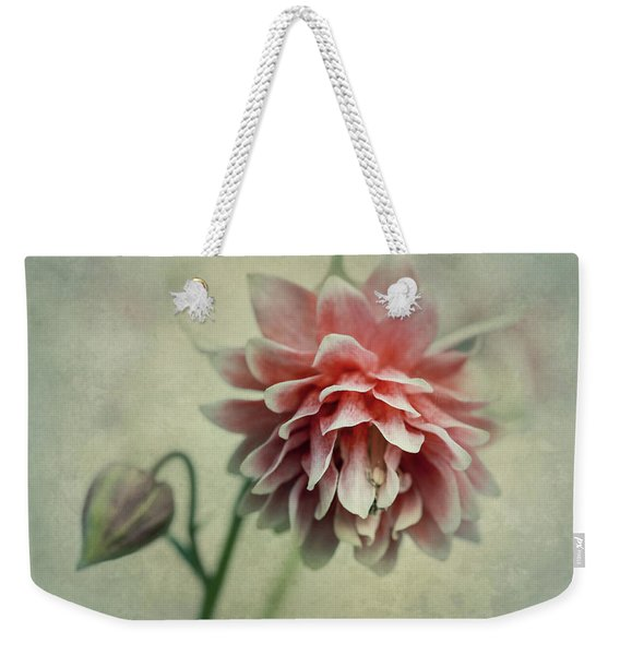 Weekender Tote Bag featuring the photograph Red And Pink Columbine by Jaroslaw Blaminsky