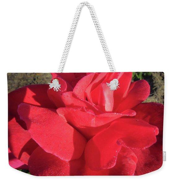 Red And Wet Weekender Tote Bag