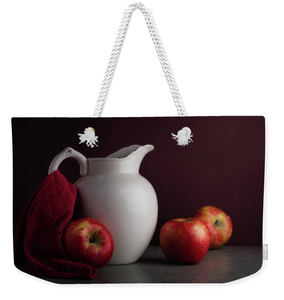 Red And White Apple Still Life Weekender Tote Bag