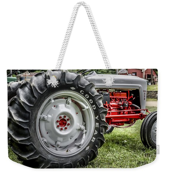 Red And White Ford Model 600 Tractor Weekender Tote Bag