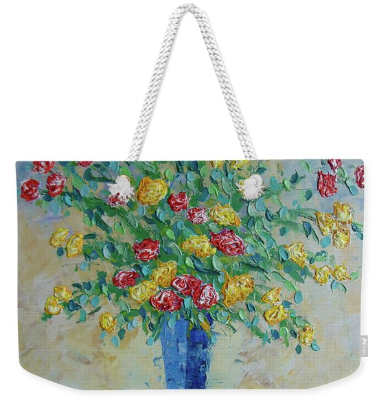 Red And Yellow Carnations Weekender Tote Bag