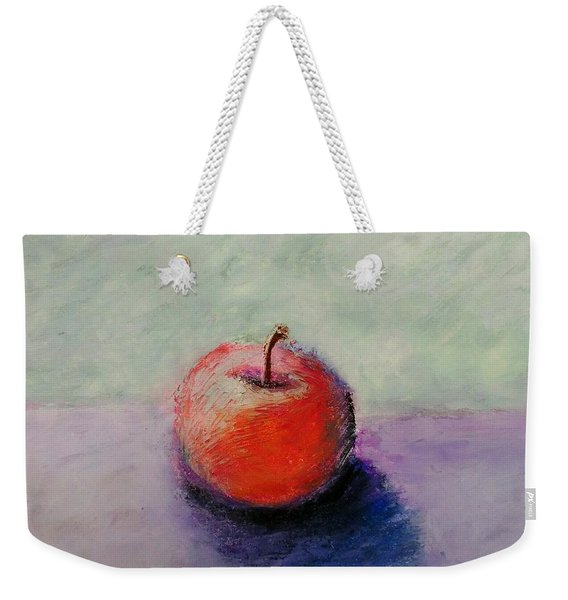 Red Apple With Mint Green And Purple Weekender Tote Bag