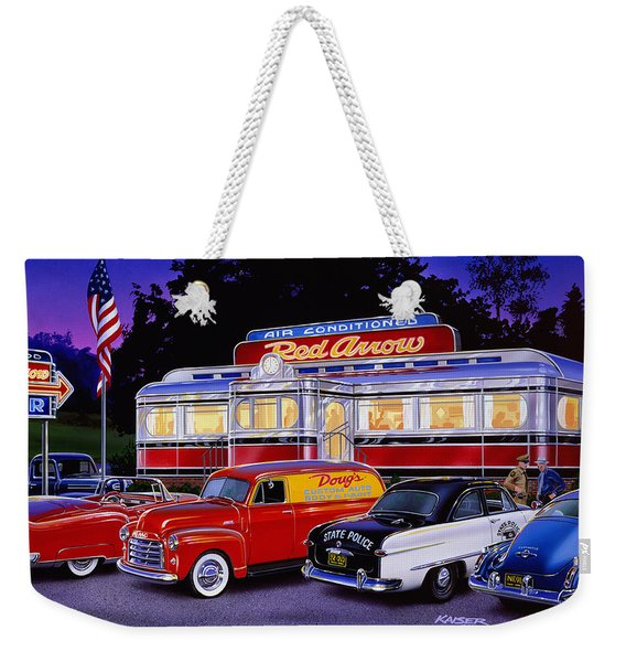 Red Arrow Diner Weekender Tote Bag