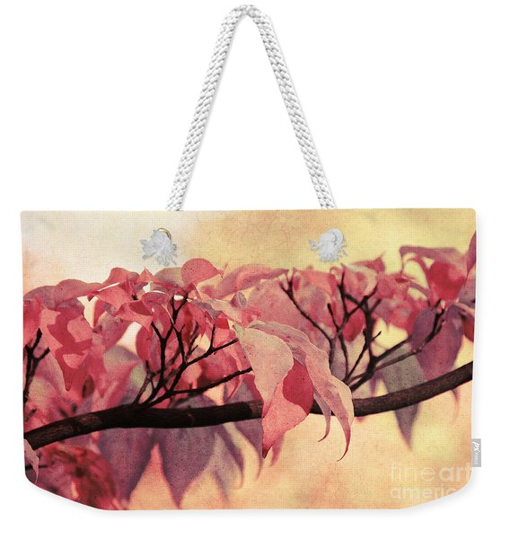 Red Autumn Day Weekender Tote Bag