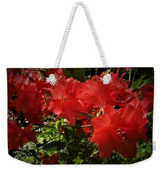 Red Azalea Weekender Tote Bag