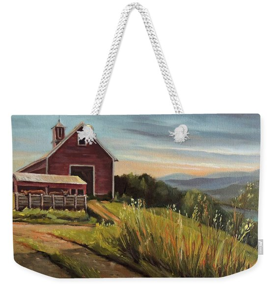 Red Barn By The Connnecticut River Weekender Tote Bag