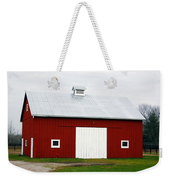 Red Barn- Photography By Linda Woods Weekender Tote Bag