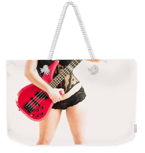 Red Bass Guitar Weekender Tote Bag