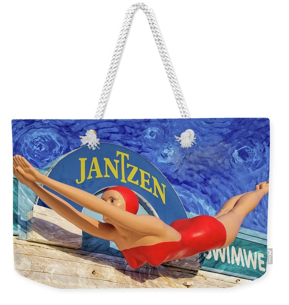 Red Bathing Suit Weekender Tote Bag