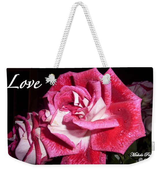 Red Beauty 3 - Love Weekender Tote Bag
