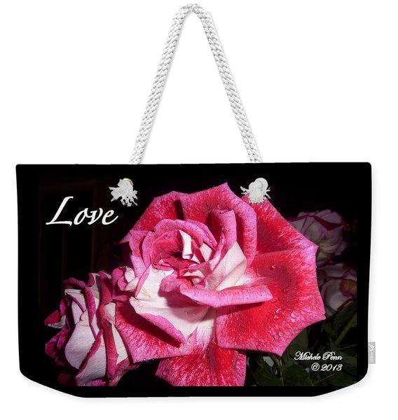 Red Beauty 3 - Love Weekender Tote Bag