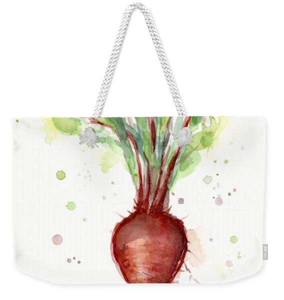 Red Beet Watercolor Weekender Tote Bag