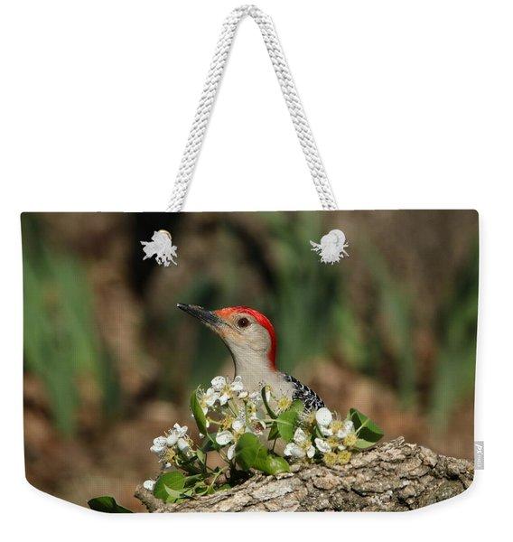 Red-bellied Woodpecker In Spring Weekender Tote Bag