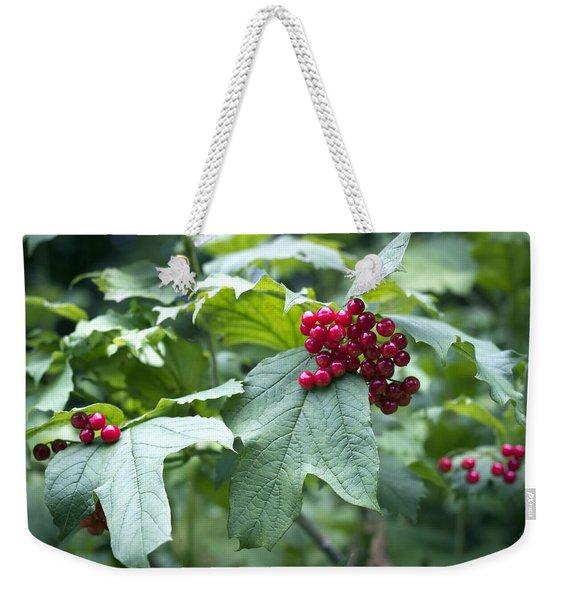 Red Berries Weekender Tote Bag