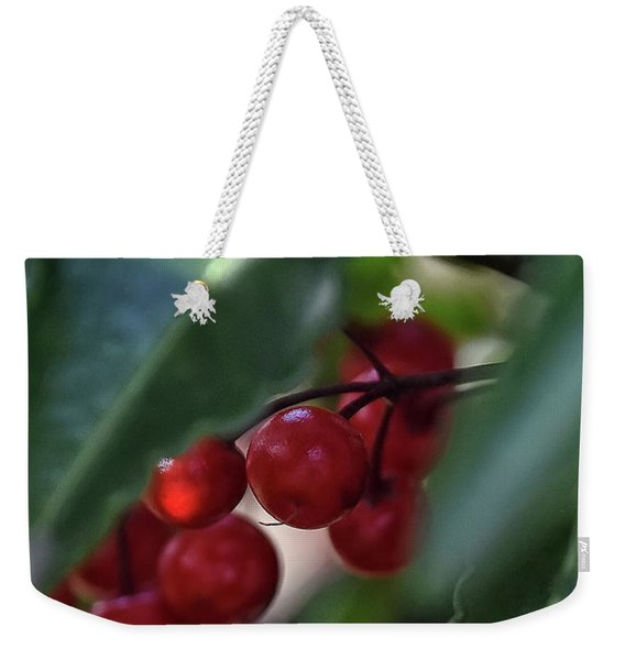Red Berry Weekender Tote Bag