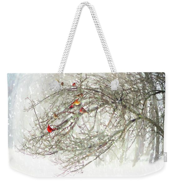 Red Bird Convention Weekender Tote Bag