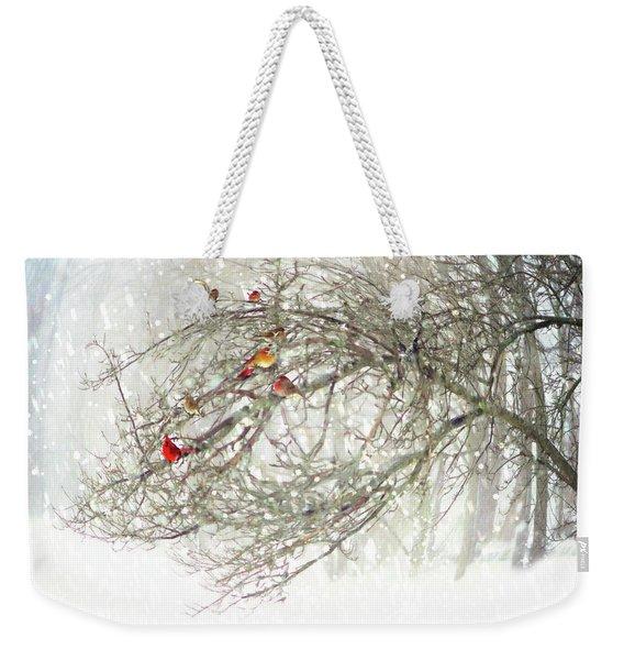 Red Bird Convention Weekender Tote Bag