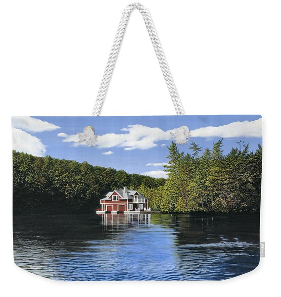 Red Boathouse Weekender Tote Bag