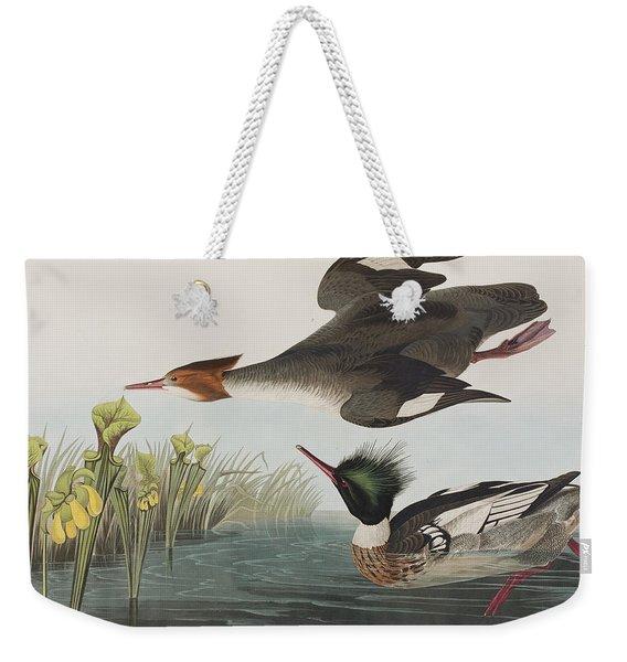 Red-breasted Merganser Weekender Tote Bag