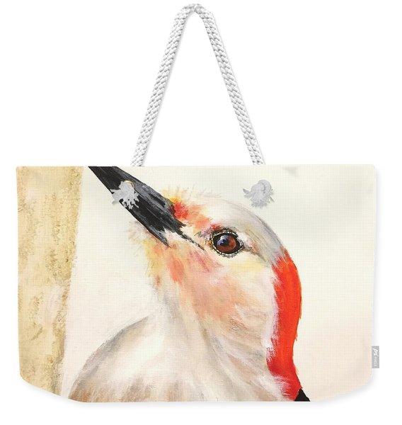 Red Breasted Woodpecker Weekender Tote Bag