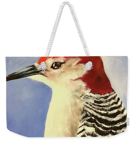 Red Breasted Woodpecker Two Weekender Tote Bag