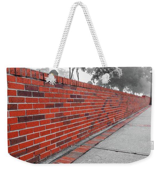 Red Brick Weekender Tote Bag