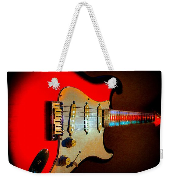 Red Burst Stratocaster Glow Neck Series Weekender Tote Bag