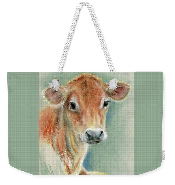 Red Calf Portrait Weekender Tote Bag