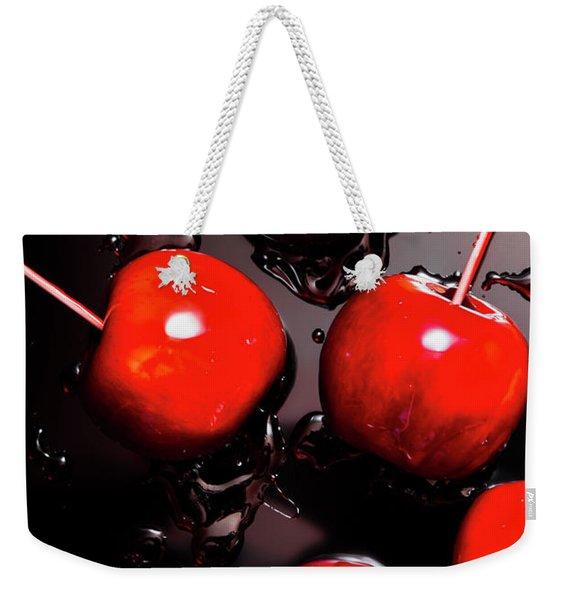 Red Candy Apples Or Apple Taffy Weekender Tote Bag