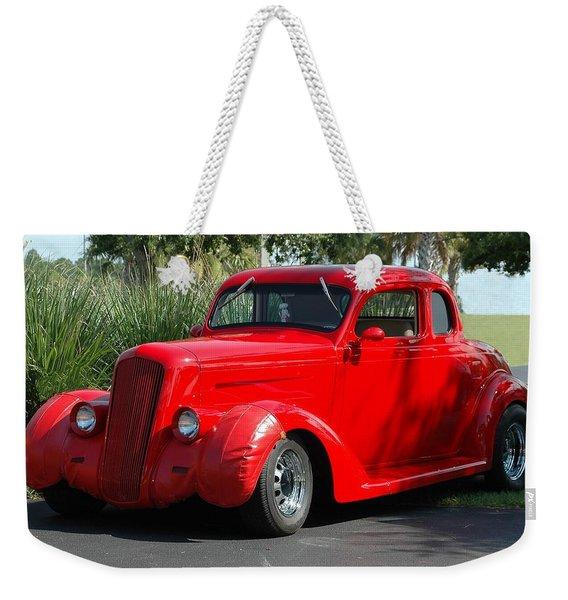 Red Car Weekender Tote Bag