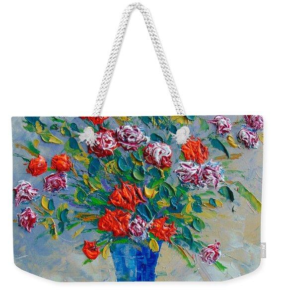 Red Carnations Weekender Tote Bag