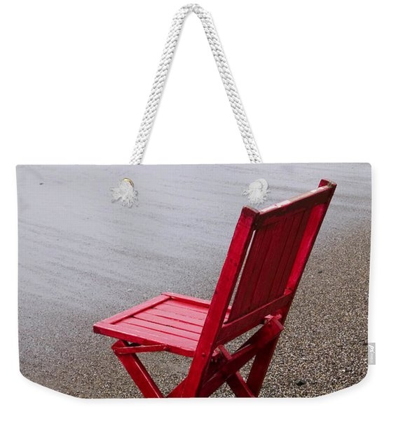 Red Chair On The Beach Weekender Tote Bag