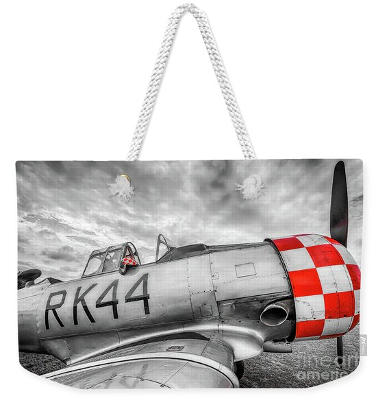 Red Checkers Weekender Tote Bag