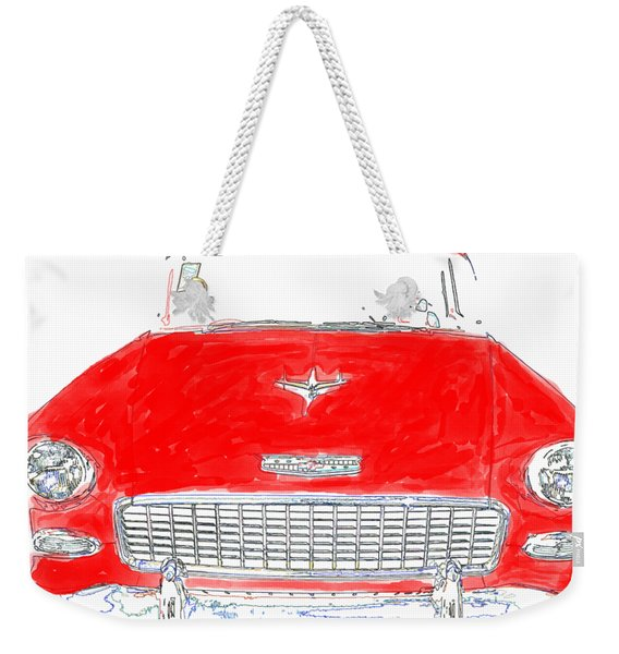 Red Chevy T-shirt Weekender Tote Bag