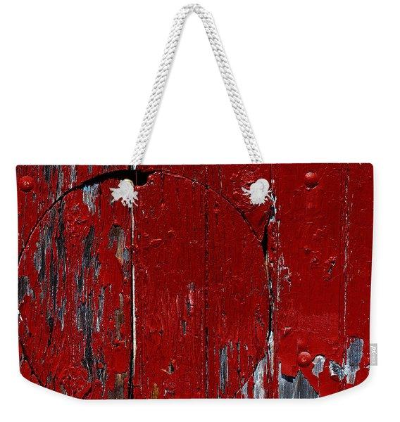 Red Circle Weekender Tote Bag