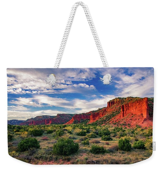 Red Cliffs Of Caprock Canyon Weekender Tote Bag