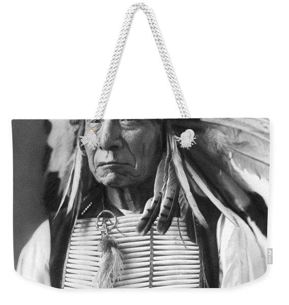 Red Cloud, Dakota Chief, Wearing A Headdress, 1880s Weekender Tote Bag