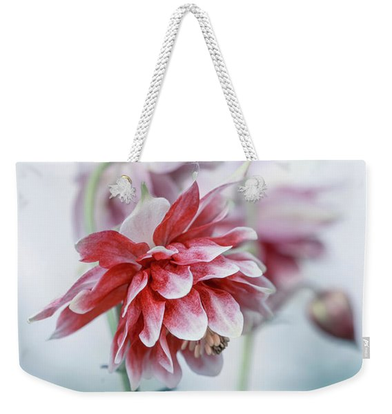 Weekender Tote Bag featuring the photograph Red Columbines by Jaroslaw Blaminsky