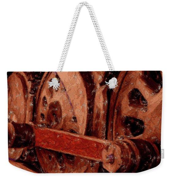Red Coupling Rod Weekender Tote Bag