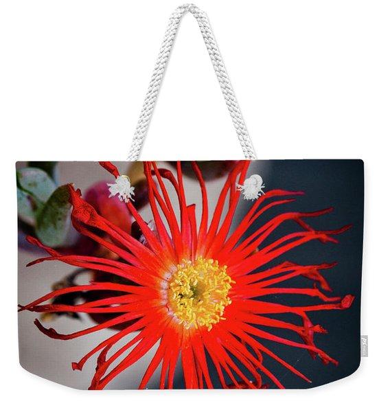 Red Crab Flower Weekender Tote Bag