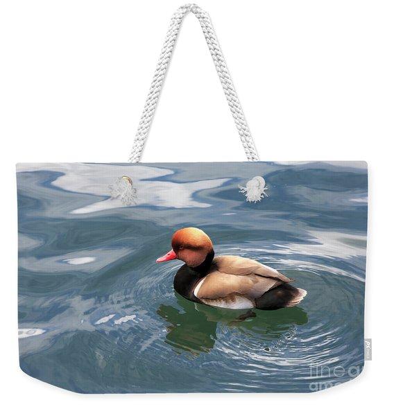 Red Crested Pochard Weekender Tote Bag