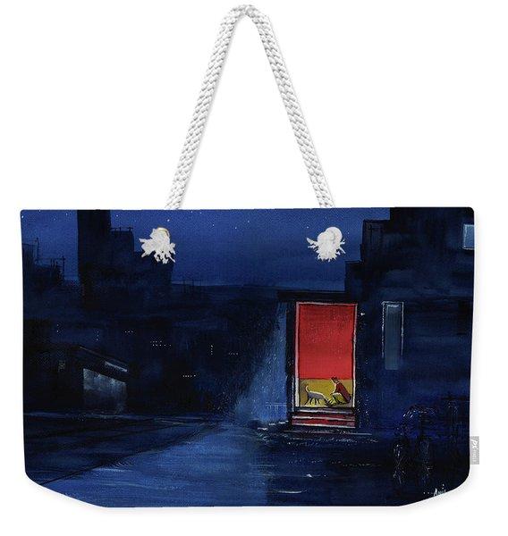 Red Curtain Weekender Tote Bag