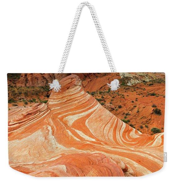 Red Desert Stripes Weekender Tote Bag