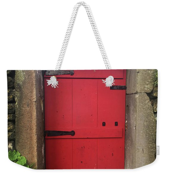 Red Door At The Wine Museum Of Biscoitos Weekender Tote Bag
