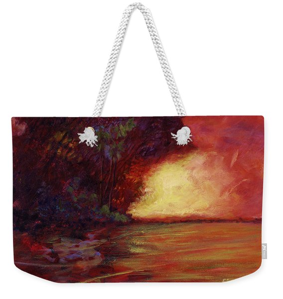 Red Dusk Weekender Tote Bag