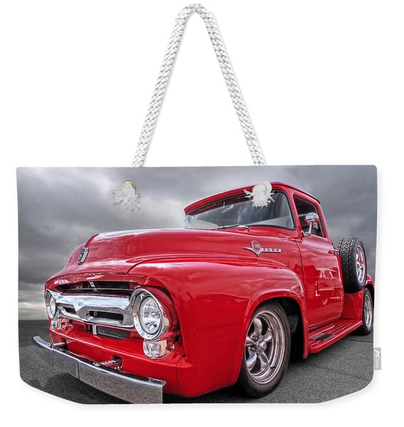 Red F-100 Weekender Tote Bag
